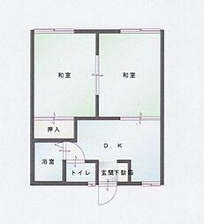 サンハイツ村井 A[204号室]の間取り