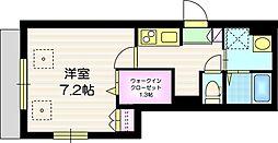 Grace Maison f 1階1Kの間取り