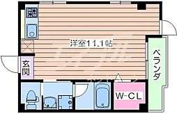 Osaka Metro谷町線 野江内代駅 徒歩10分の賃貸マンション 3階ワンルームの間取り