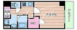 Osaka Metro長堀鶴見緑地線 蒲生四丁目駅 徒歩6分の賃貸マンション 2階1Kの間取り