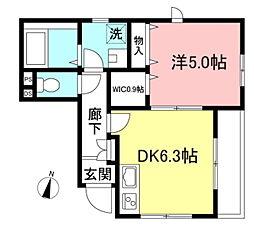 東京メトロ有楽町線 護国寺駅 徒歩4分の賃貸マンション 1階1DKの間取り