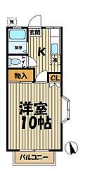 コートハウス湘南[101号室]の間取り