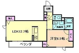 大阪府豊中市螢池南町3丁目の賃貸マンションの間取り