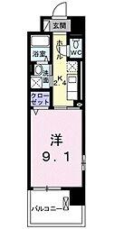 名鉄三河線 土橋駅 徒歩13分の賃貸マンション 6階1Kの間取り