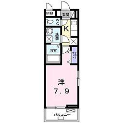 埼玉県八潮市大字伊勢野の賃貸アパートの間取り