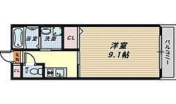 プラージュ堺[3階]の間取り