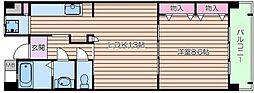 URプロムナーデ関目14号棟 6階1LDKの間取り