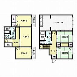 [一戸建] 福岡県福岡市西区野方3丁目 の賃貸【/】の間取り