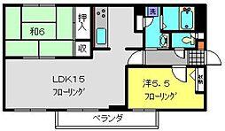 神奈川県横浜市港南区上永谷3丁目の賃貸マンションの間取り