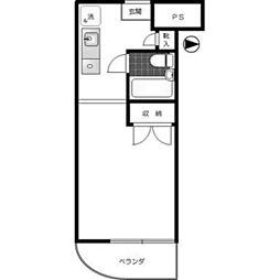神奈川県川崎市多摩区枡形1丁目の賃貸マンションの間取り
