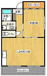 森藤不動産ビル[510号室]の間取り