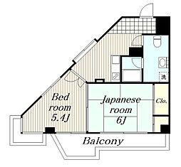 神奈川県横浜市瀬谷区橋戸1丁目の賃貸マンションの間取り