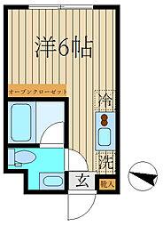 レコ桜新町 3階ワンルームの間取り