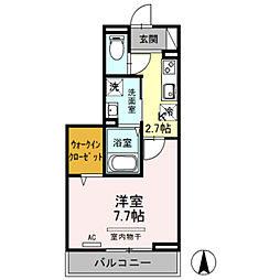 JR埼京線 戸田公園駅 徒歩9分の賃貸アパート 3階1Kの間取り
