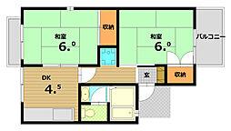トラスト神戸[2階]の間取り