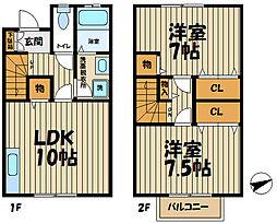 [テラスハウス] 神奈川県鎌倉市植木 の賃貸【神奈川県 / 鎌倉市】の間取り