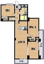 根岸台ハイツ[3階]の間取り