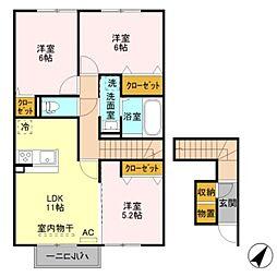 仮)D-room五智[2階]の間取り