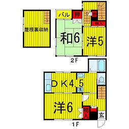 [一戸建] 東京都北区上十条1丁目 の賃貸【/】の間取り