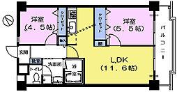 パークナオマンション[5階]の間取り