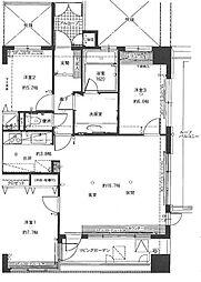 コアマンション博多駅南[902号室]の間取り