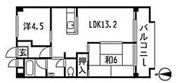 清水マンション1[2階]の間取り