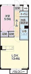 愛知県小牧市小木東1丁目の賃貸アパートの間取り