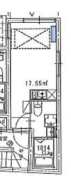 プレミア中野野方 1階ワンルームの間取り