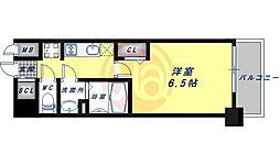 JR大阪環状線 鶴橋駅 徒歩5分の賃貸マンション 12階1Kの間取り