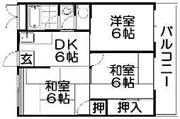 村野マンション[5階]の間取り