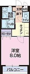 愛知県刈谷市井ケ谷町の賃貸アパートの間取り
