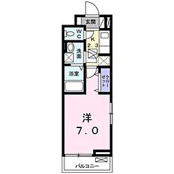 アイリス関場[1階]の間取り