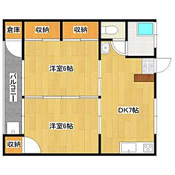 第1石川アパート[207号室]の間取り