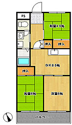 松戸レジデンス[1階]の間取り