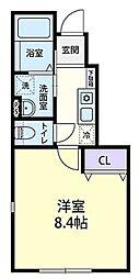 JR御殿場線 御殿場駅 バス16分 北郷支所下車 徒歩2分の賃貸アパート 1階1Kの間取り