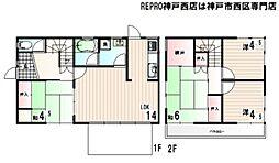 [一戸建] 兵庫県神戸市西区桜が丘西町3丁目 の賃貸【/】の間取り