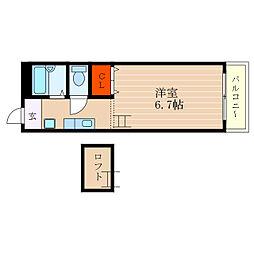 滋賀県彦根市長曽根南町の賃貸アパートの間取り