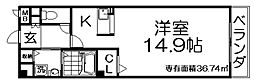 カーサ・エル・タカミヤ[1階]の間取り