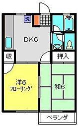 ハイムケンショウ3[2階]の間取り