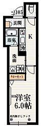 京王線 八幡山駅 徒歩5分の賃貸マンション 1階1Kの間取り