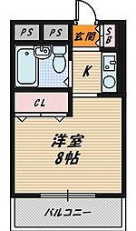 オノライトマンション[B301号室]の間取り