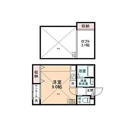 First Square[D202号室]の間取り