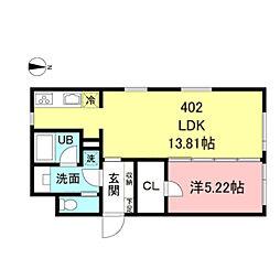 ASTILE新宿III 4階1LDKの間取り
