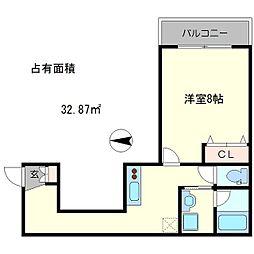 Largo仁王門[5階]の間取り