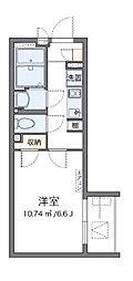 東京メトロ有楽町線 地下鉄成増駅 徒歩12分の賃貸マンション 2階1Kの間取り