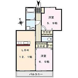 MIMOSA COMFORT[3階]の間取り