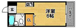 阪急京都本線 上新庄駅 徒歩13分の賃貸マンション 4階1Kの間取り