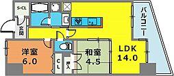 兵庫県神戸市中央区北長狭通4丁目の賃貸マンションの間取り