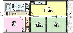 パークヒルズ[1階]の間取り