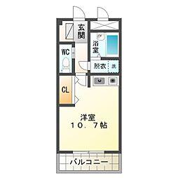愛知県豊橋市大崎町字平地の賃貸アパートの間取り